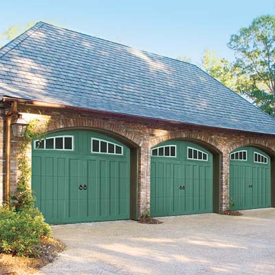 Trend 3, Bold Colors, Green garage doors