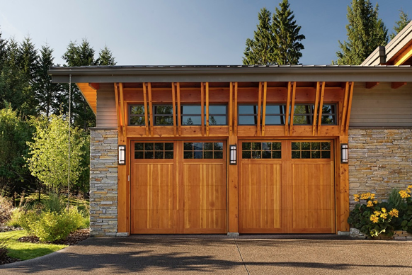 High Quality Wooden Garage Door