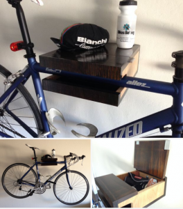 DIY bike shelf, organize garage for Mother's Day