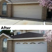 Garage door upgrade before & after