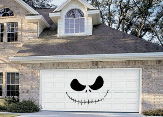 Halloween garage door decoration - Jack Skellington