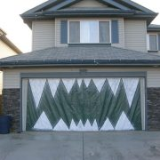 Halloween garage door decoration - Monster mouth