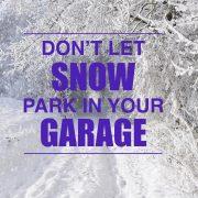 Replace garage door seal - Don't let snow park in your garage